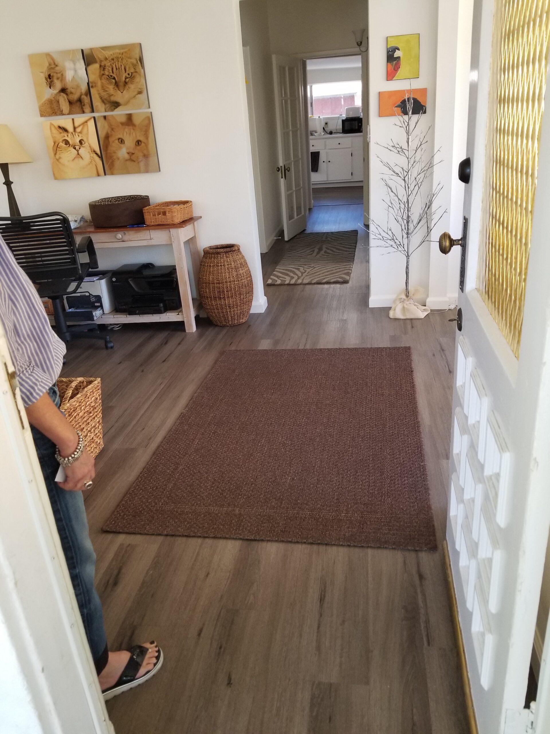 Los Alto Residential  Office - Add LVT (waterproof luxury vinyl tile) over existing hardwood flooring.