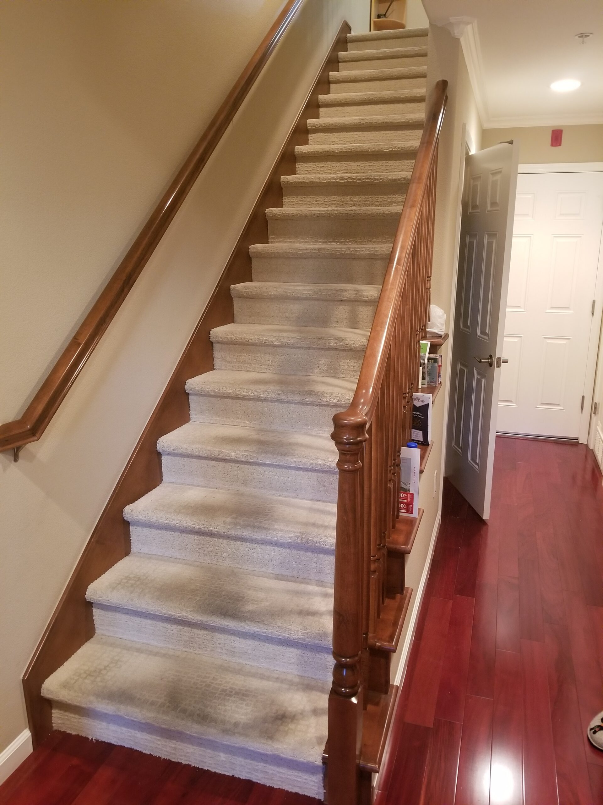 "Los Altos - ""Before"" stairs project."