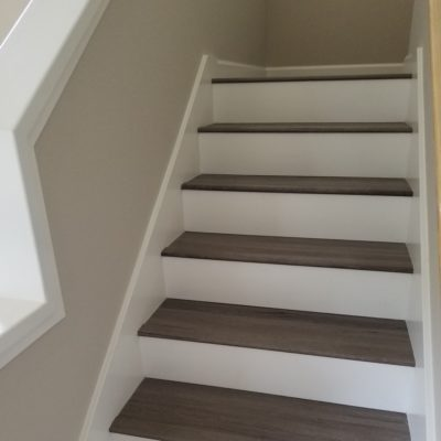 LVT Flooring Sales & Installation, Sunnyvale: Stairway, First Flight.
