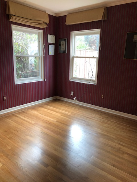 Look how beautiful the den's floors now look.