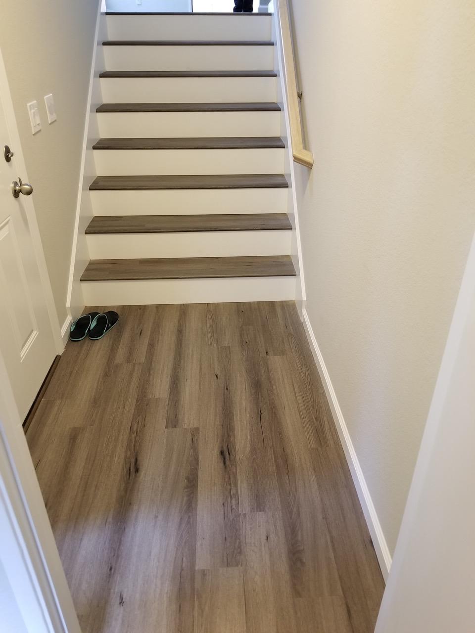 LVT Flooring Sales & Installation, Sunnyvale: Stairway Landing.