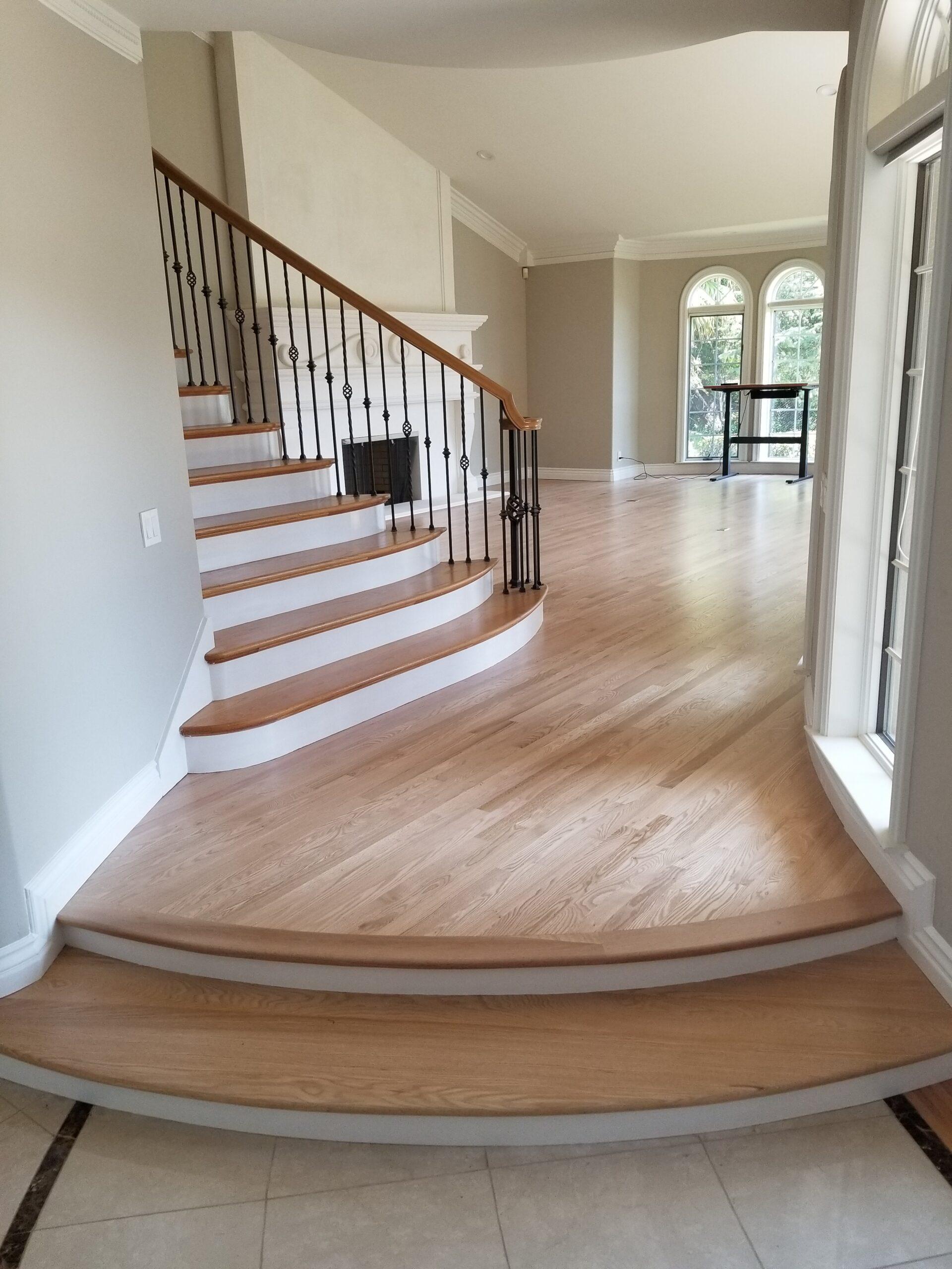 After wood flooring repairs