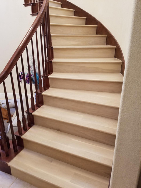 """After"" residential, Palo Alto: 15 tread staircase complete and looking beautful."