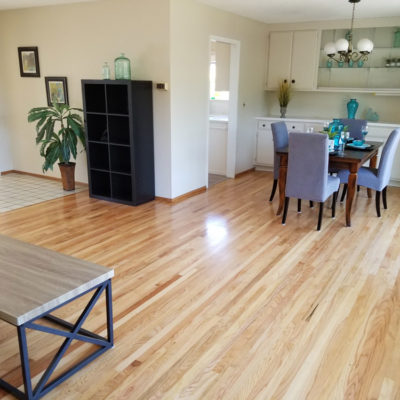 San Jose, residential realtor listing: Hardwood floor  refinishing. Living room, 200 square feet.