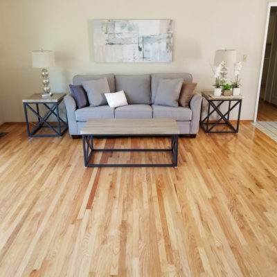 San Jose, residential realtor listing: Hardwood floor  refinishing. Living room, 300 square feet.