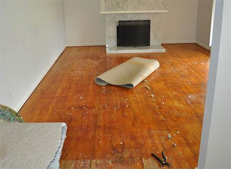 Before photo - hardwood floor insaller review