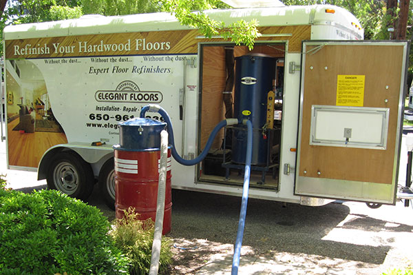 photo atomic hardwood floor sanding trailer