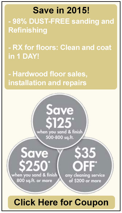 Save on hardwood floor refinishing and cleaning