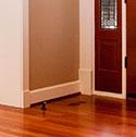 hardwood floor baseboard