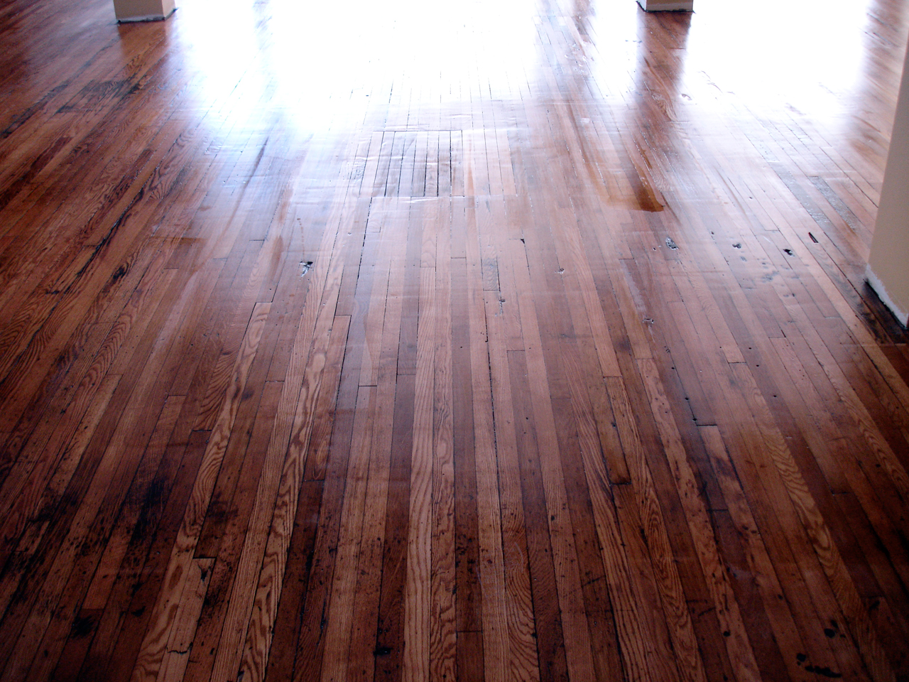 Shiny Hardwood Floor Installed in Saratoga